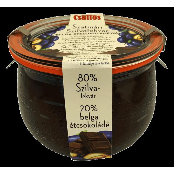 Szatmári szilvalekvár belga étcsokoládéval